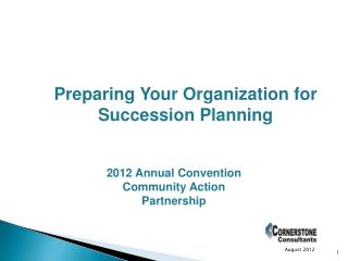 Preparing Your Organization for Succession  Planning