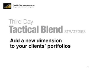 Add a new dimension  to your clients' portfolios