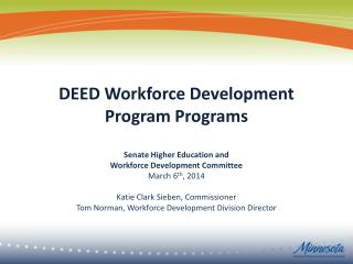DEED Workforce Development Program Programs