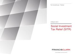 Social Investment Tax Relief (SITR)