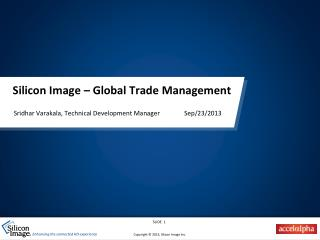 Silicon Image – Global Trade Management