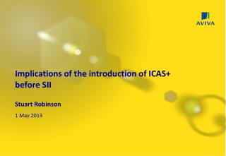 Implications of the introduction of ICAS+          before SII Stuart Robinson 1 May 2013