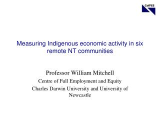 Measuring  Indigenous economic  activity in six remote NT communities