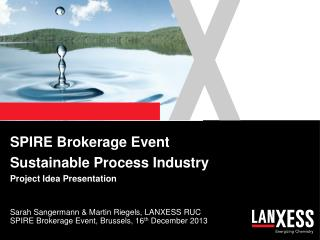 SPIRE Brokerage Event Sustainable Process Industry