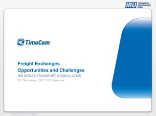 Freight Exchanges Opportunities and Challenges