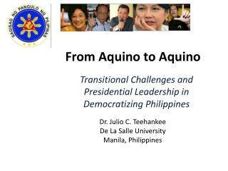 From Aquino to Aquino