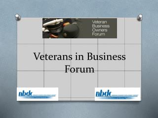 Veterans in Business Forum