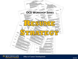OCD Workshop Series