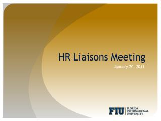 HR Liaisons Meeting