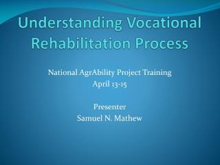 Understanding Vocational Rehabilitation Process