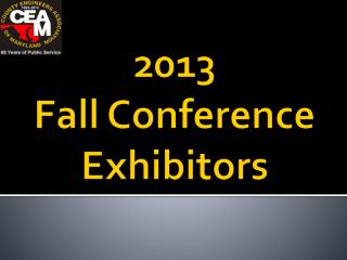 2013  Fall Conference Exhibitors