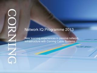 Network IQ Programme 2013