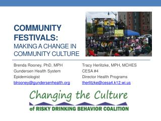 Community Festivals: Making a Change in Community Culture