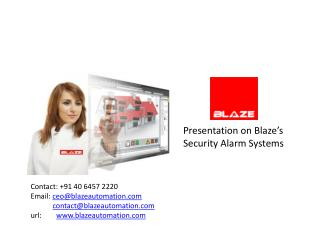Presentation on Blaze's Security Alarm Systems