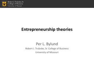 Entrepreneurship theories