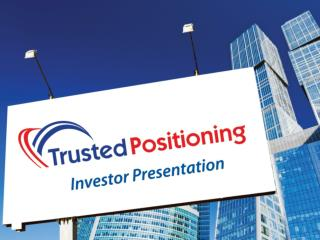Trusted Positioning's Vision