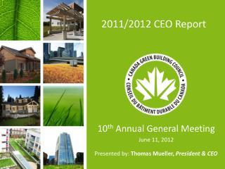 2011/2012 CEO Report