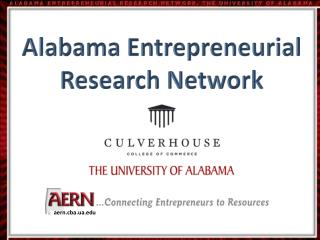 Alabama Entrepreneurial Research Network