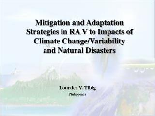 mitigation and adaptation strategies in ra v to impacts of climate change