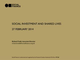 Social investment and SHARED LIVES