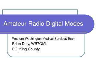 amateur radio digital modes