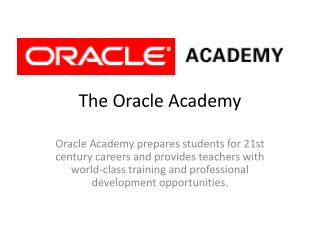 The Oracle Academy
