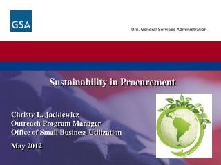 Sustainability in Procurement
