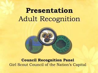 Presentation  Adult Recognition