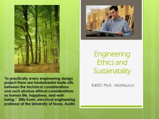 Engineering Ethics and Sustainability