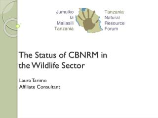 The Status of CBNRM in the Wildlife Sector