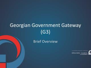 Georgian Government Gateway (G3)