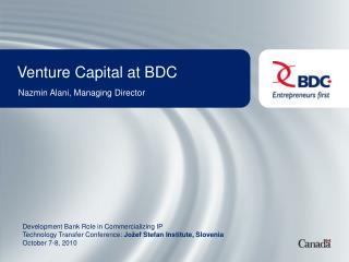 Venture Capital at BDC