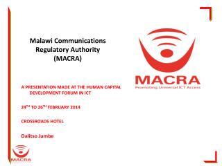 Malawi Communications Regulatory Authority (MACRA)