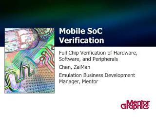Mobile  SoC Verification