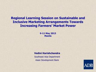 Vedini Harishchandra Southeast Asia Department Asian Development Bank