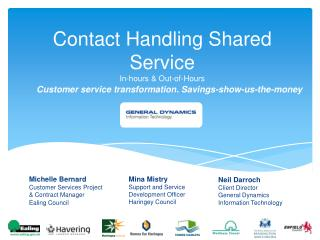 Contact Handling Shared Service In-hours & Out-of-Hours