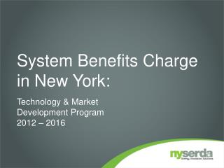 System Benefits Charge in New York: