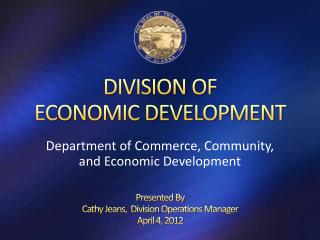 DIVISION OF  ECONOMIC DEVELOPMENT