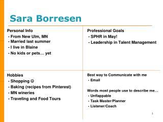 Sara Borresen