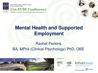 Mental Health and Supported Employment