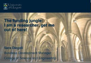 The funding jungle:  I am a researcher, get me out of here!