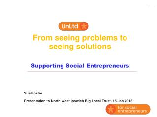 From seeing problems to seeing solutions Supporting Social Entrepreneurs
