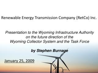 Renewable Energy Transmission Company (RetCo) Inc.