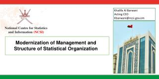National Centre for Statistics  and Information  (NCSI)