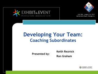 Developing Your Team:  Coaching Subordinates