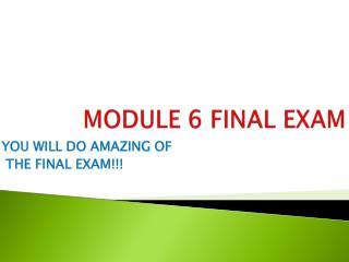 MODULE 6 FINAL EXAM