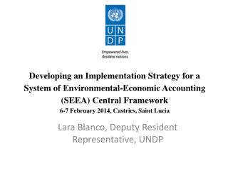 Lara Blanco, Deputy Resident Representative, UNDP