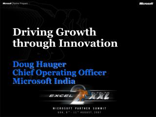 Driving Growth through Innovation