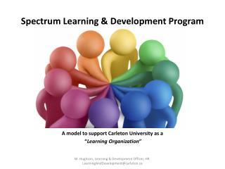 Spectrum Learning & Development Program