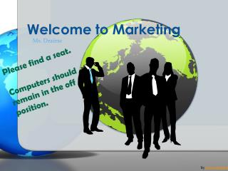 Welcome to Marketing